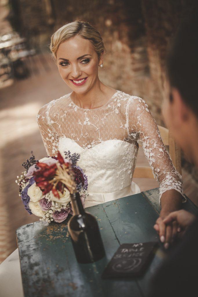 bride photo shoot in certaldo