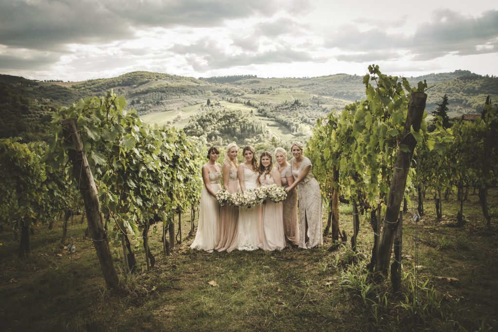 wedding celebration in chianti countryside