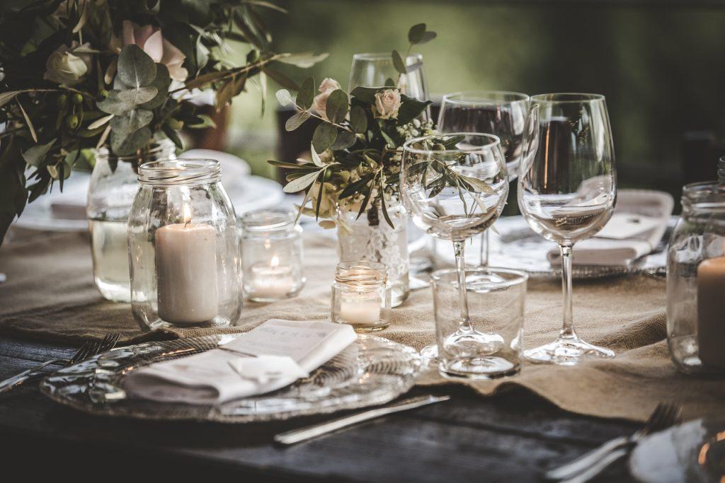 table decorations in casa cornacchi arezzo