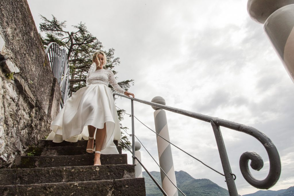 bride photo shoot in villa lario lake of como