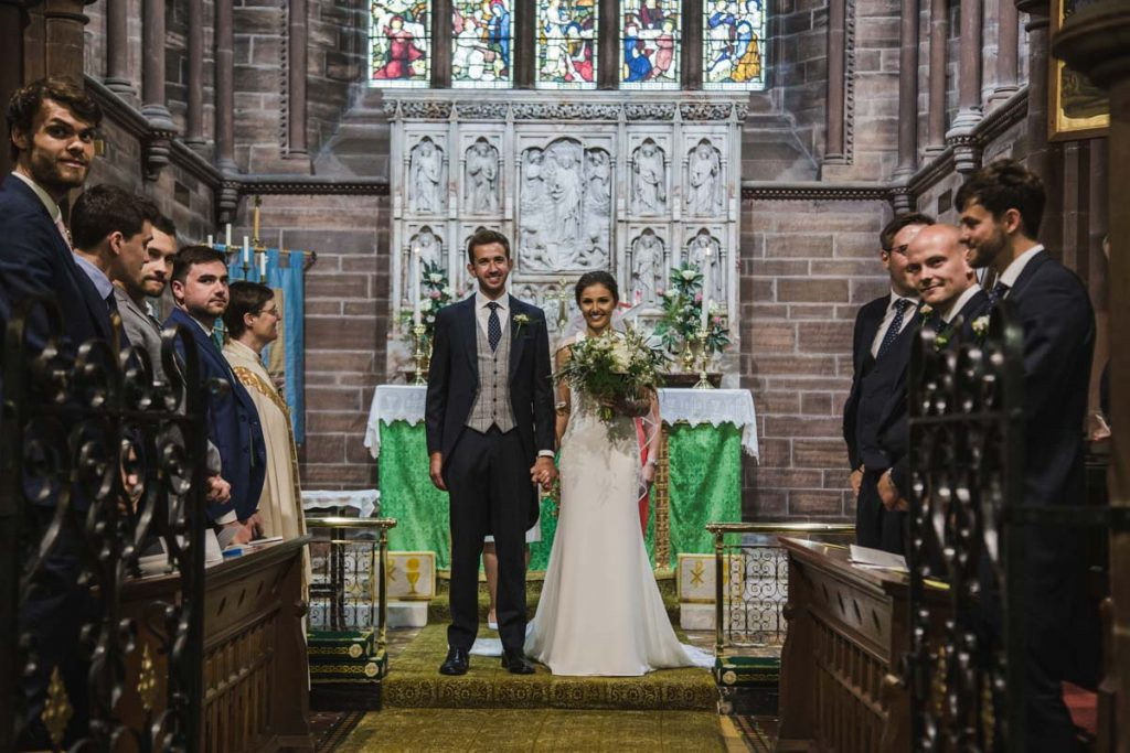 newly wed british wedding