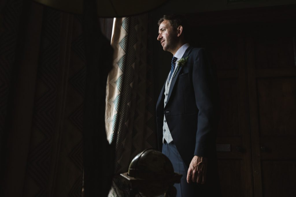 groom at soughton hall wales
