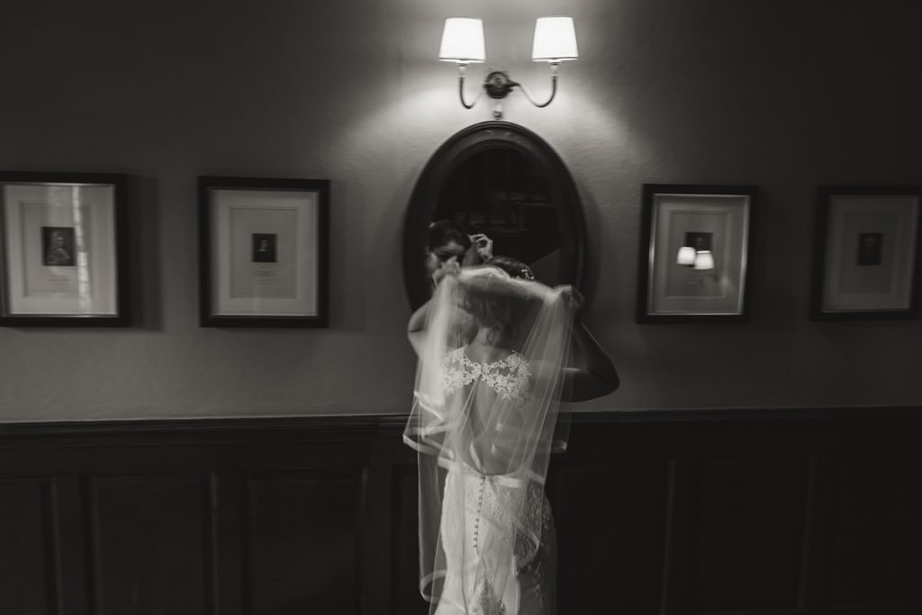 bride portrait soughton hall wales