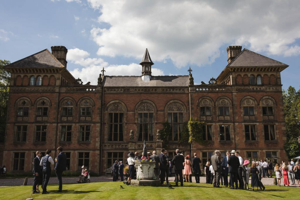 wedding party at soughton hall