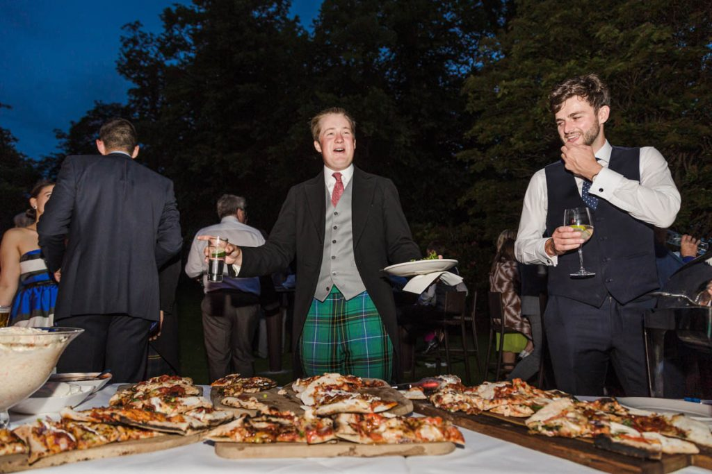 wedding pizza party