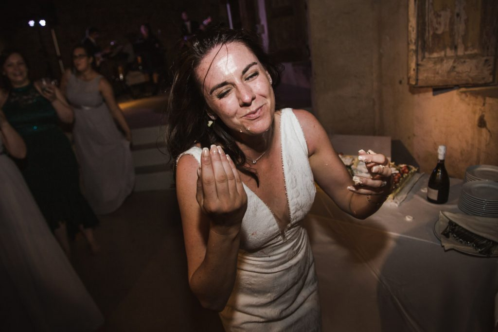 bride and crazy cake moments